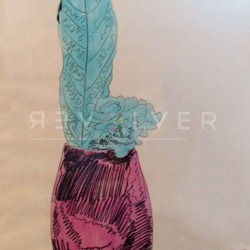 Andy Warhol – Flowers (Hand Colored) F.S. II 115 jpg