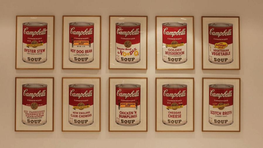 Andy Warhol - Soup II Complete Portfolio Hanging jpg