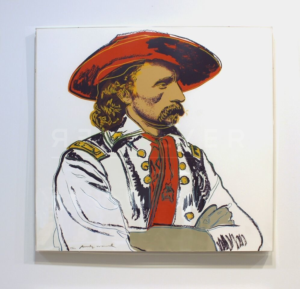 Andy Warhol - General Custer F.S. II 379 framed jpg