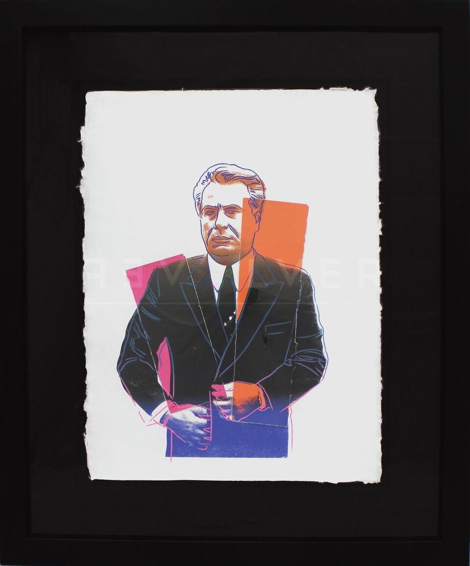 Andy Warhol - John Gotti (Orange/Blue) framed jpg