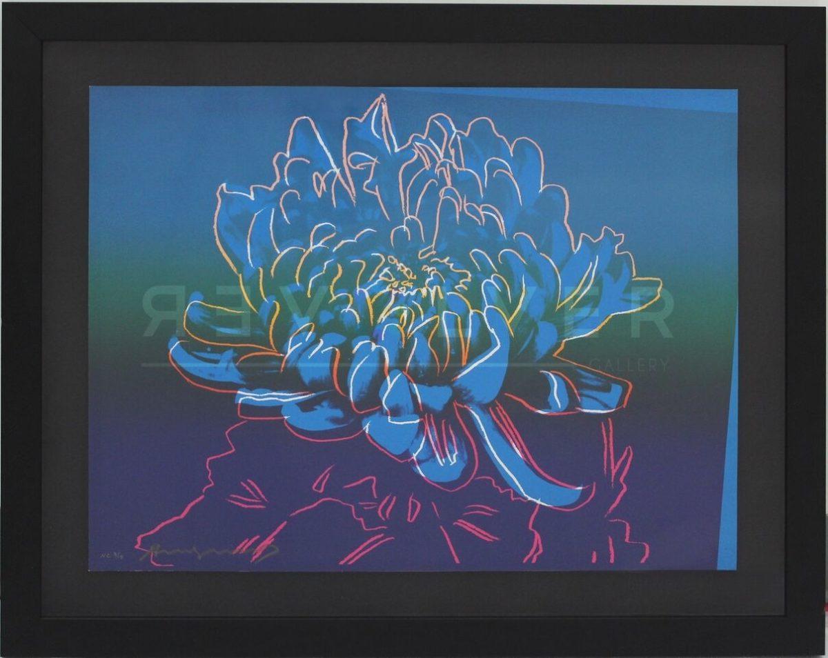 Kiku 307 by Andy Warhol framed, with Revolver watermark.