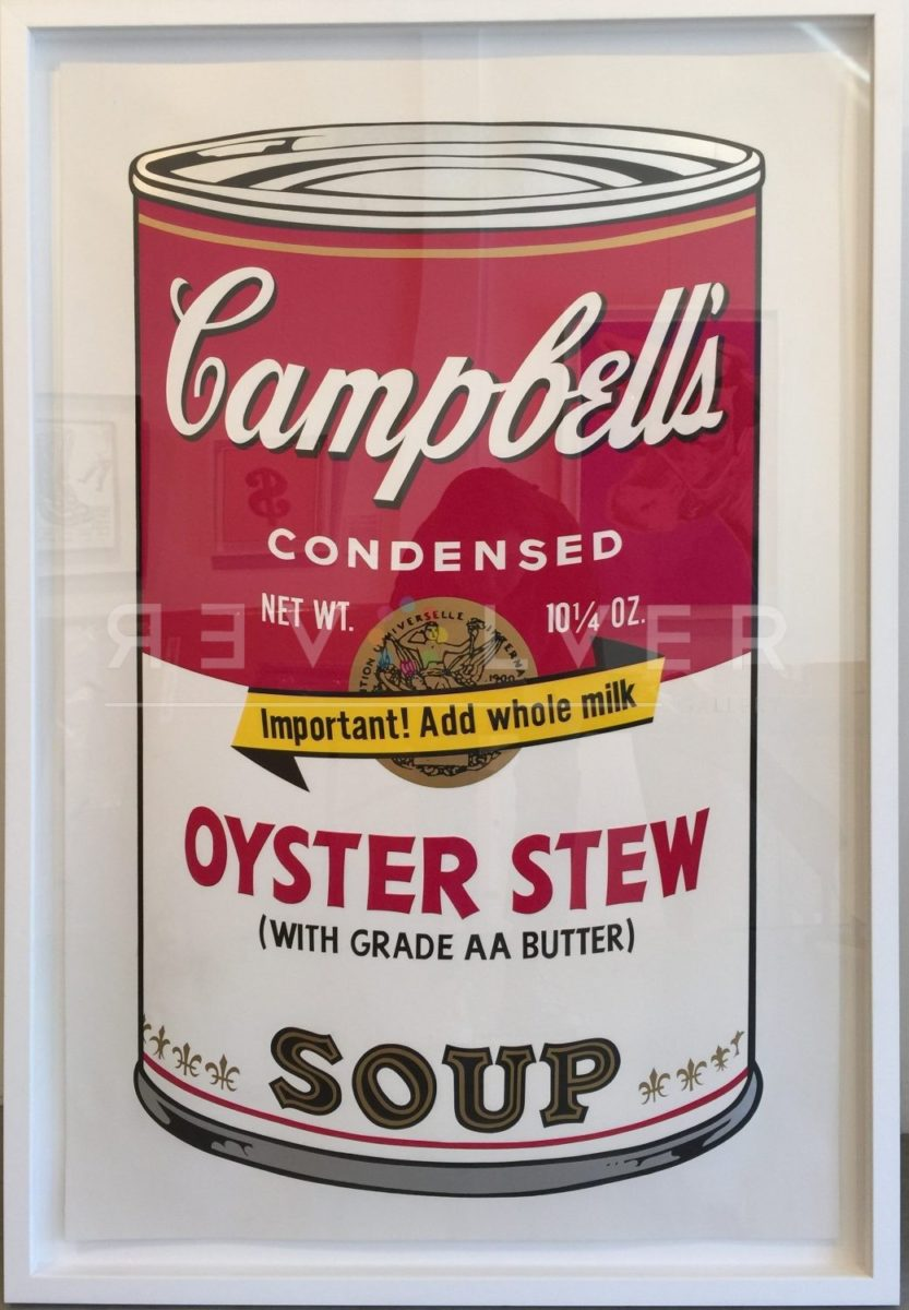 Andy Warhol Oyster Stew 60 from Campbell's Soup II framed.