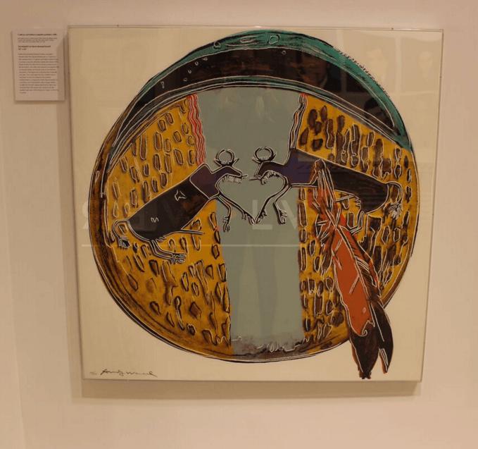 Andy Warhol - Plains Indian Shield F.S. II 382 framed jpg