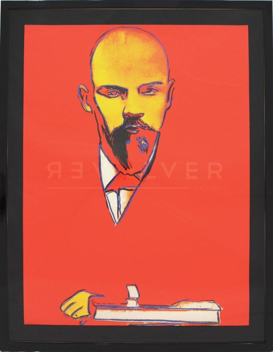 Andy Warhol - Red Lenin F.S. II 403 framed jpg