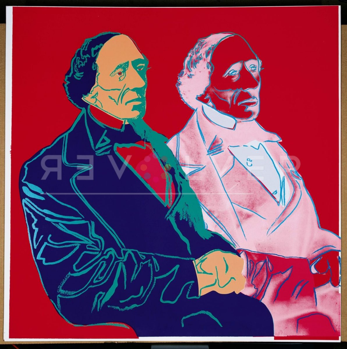 Andy Warhol Hans Christian Andersen 394 screenprint out of frame.