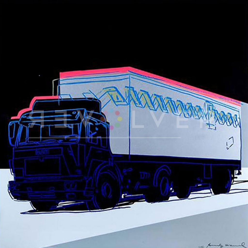 Andy Warhol Truck 370 screenprint stock image with Revolver watermark.