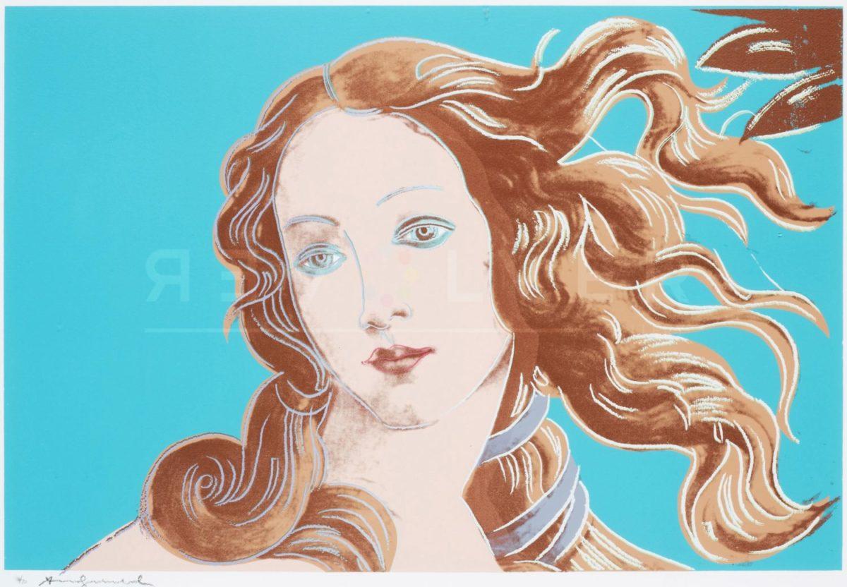 Andy Warhol - Sandro Botticelli Birth of Venus F.S. II 319 jpg