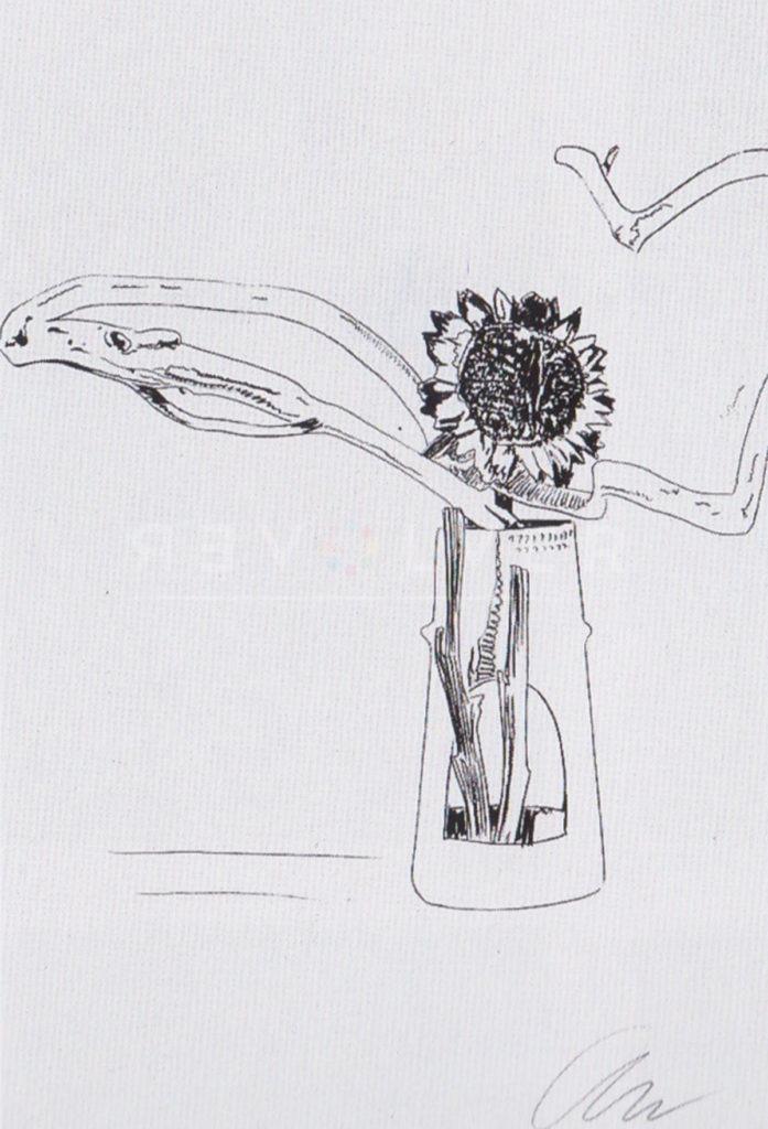 Andy Warhol - Flowers (Black and White) F.S. II 102 jpg