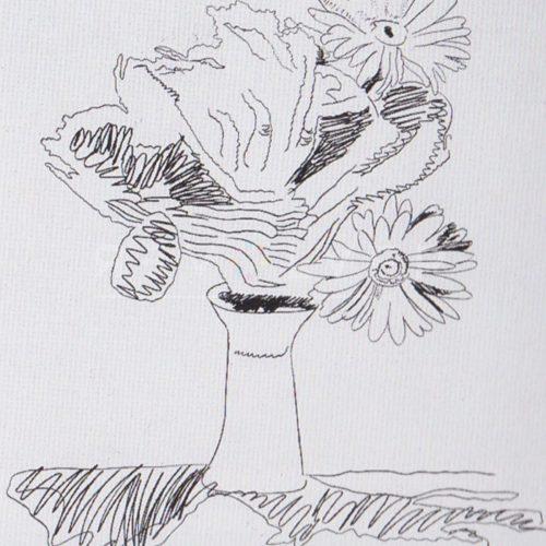 Andy Warhol – Flowers (Black and White) F.S. II 103 jpg