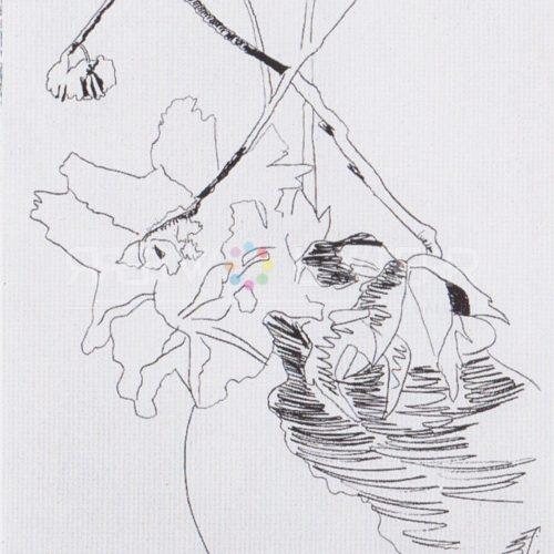 Andy Warhol – Flowers (Black and White) F.S. II 109 jpg