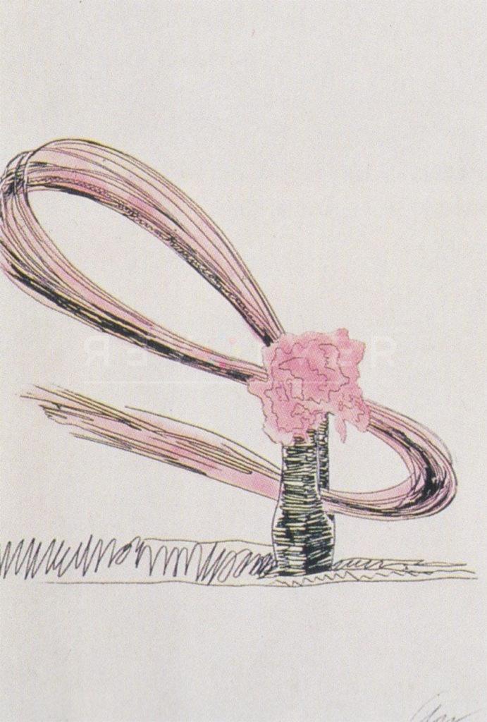 Andy Warhol - Flowers (Black and White) F.S. II 117 jpg
