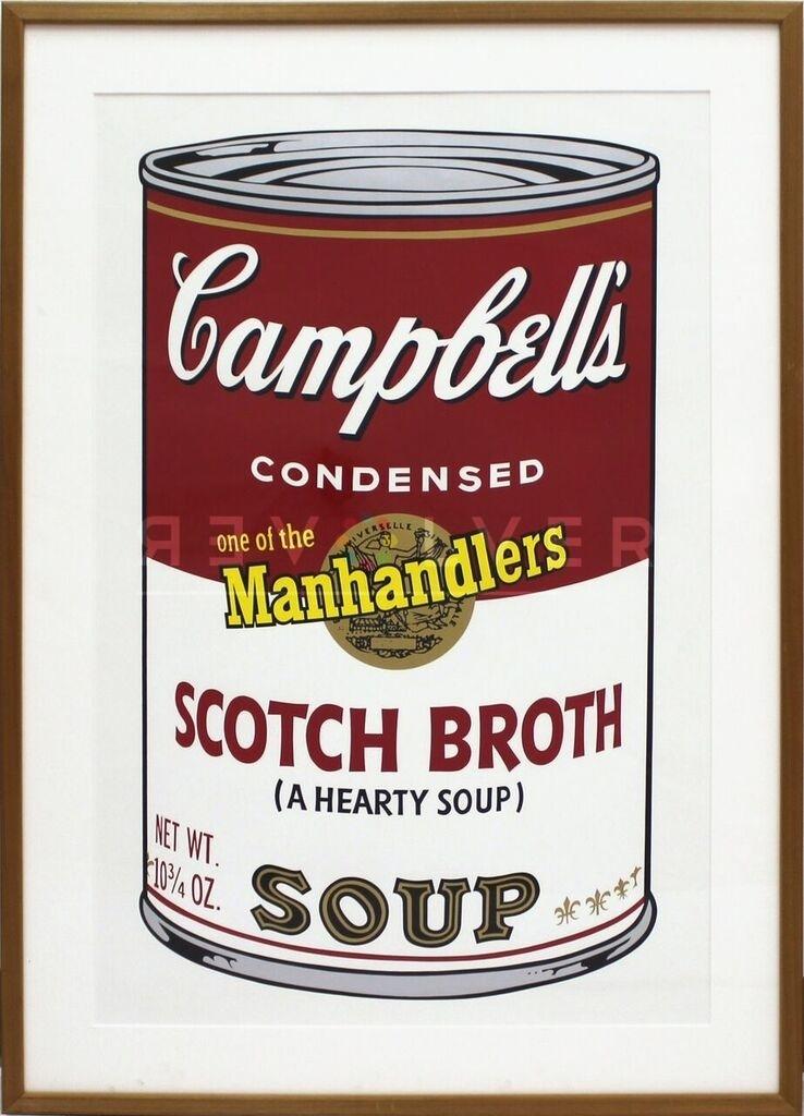 Andy Warhol - Soup II: Scotch Broth F.S. II 55 framed jpg