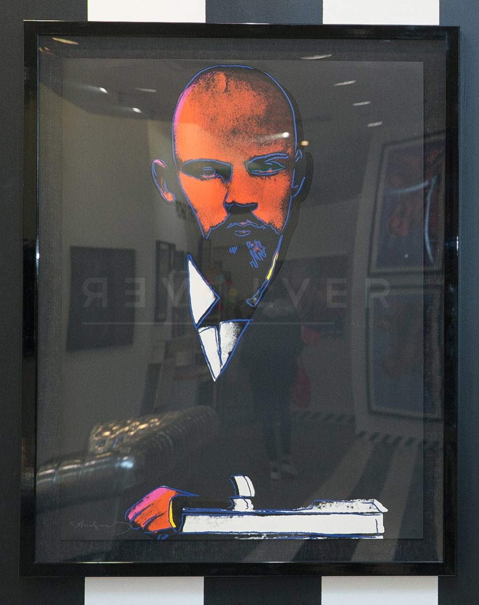Andy Warhol - Black Lenin F.S. II 402 framed jpg