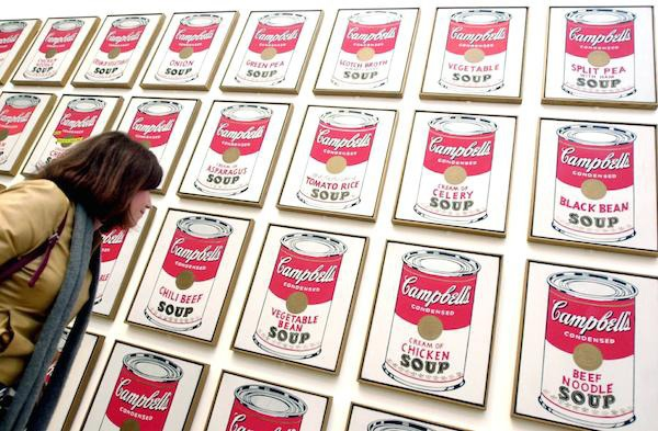 Ron Rivlin's advice on stolen Warhol Campbells soup cans featured on Artnet