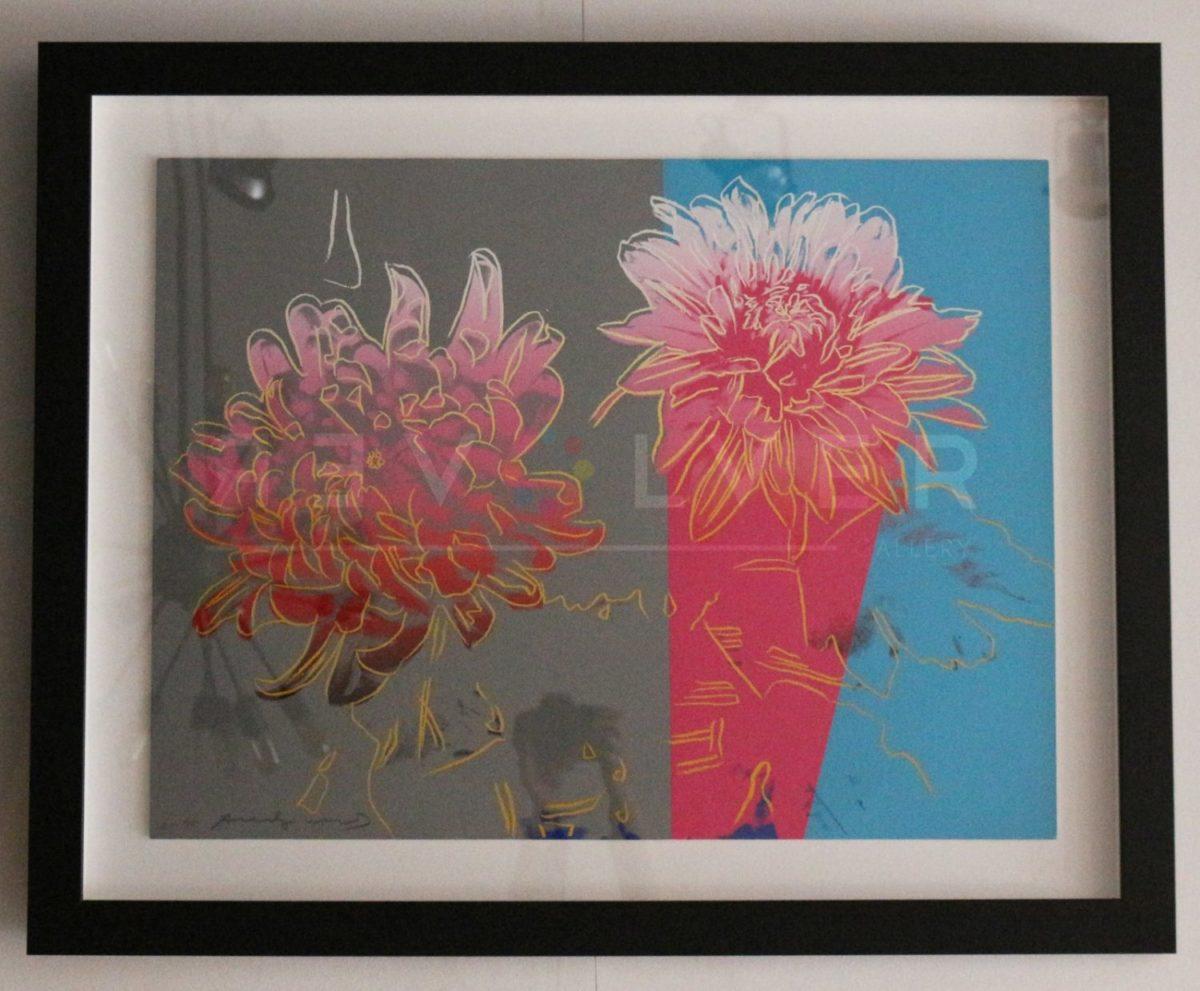Andy Warhol Kiku 308 screenprint framed, with Revolver Gallery watermark.