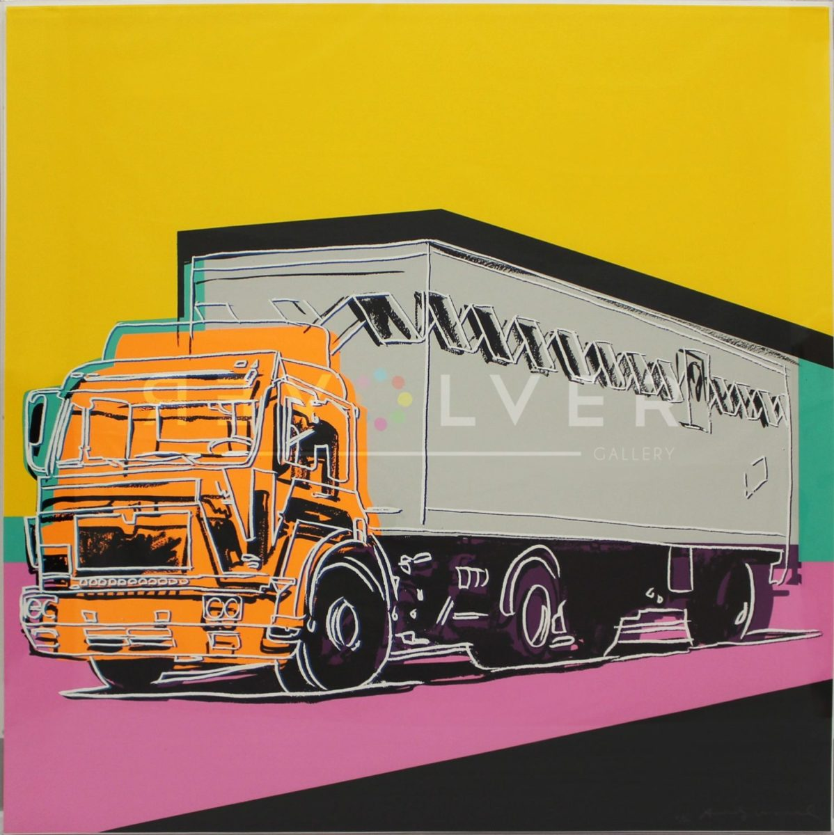 Andy Warhol Truck 367 screenprint, basic stock image with the revolver gallery watermark.