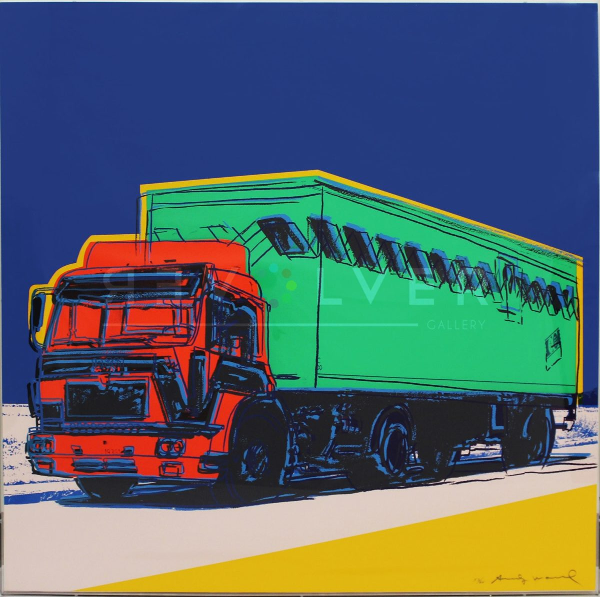 Andy Warhol Truck 368 screenprint. Basic stock image with the revolver gallery watermark.