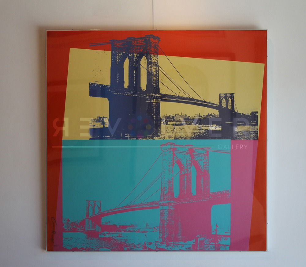 Andy Warhol - Brooklyn Bridge F.S. II 290 framed jpg