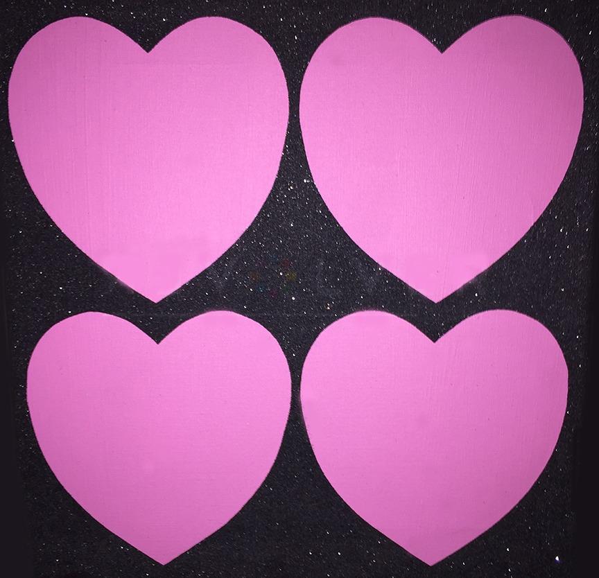 Warhol Four Diamond Dust Hearts