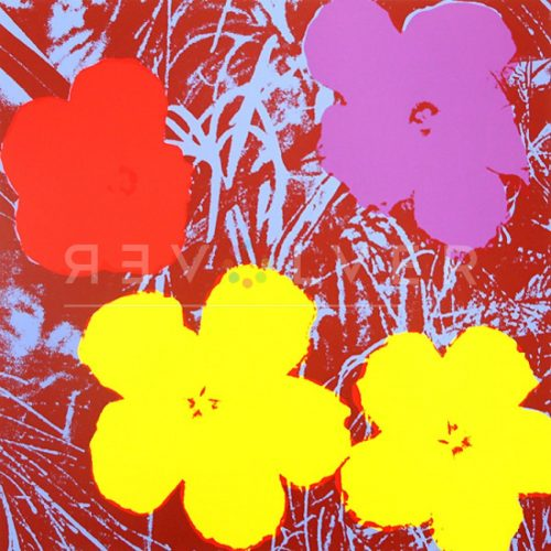 Andy Warhol Screenprint Flowers