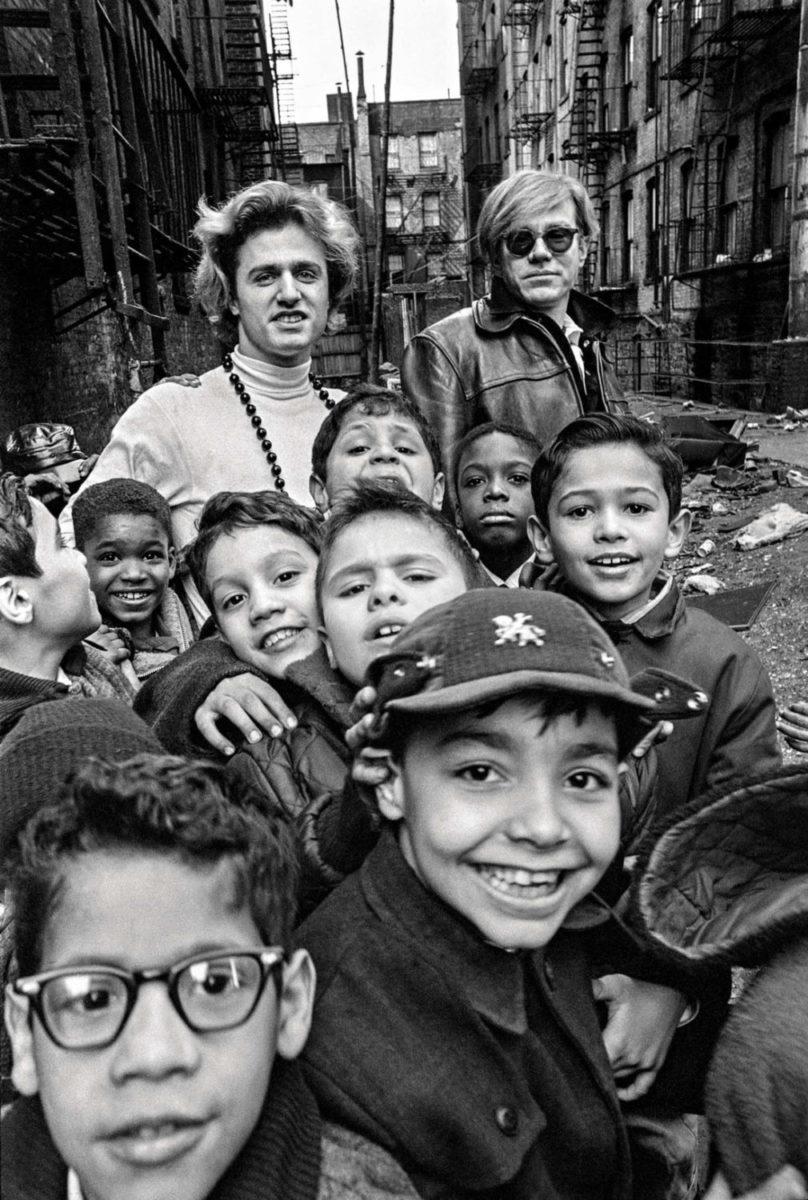 Andy Warhol with school children