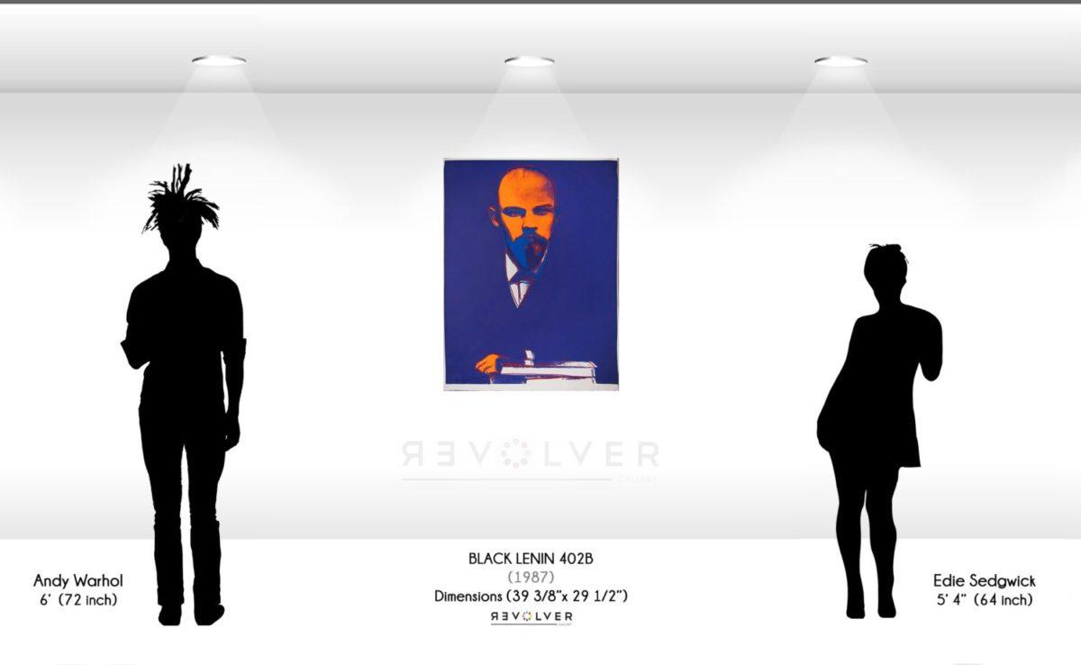 Andy Warhol Black Lenin Trial Proof 402B
