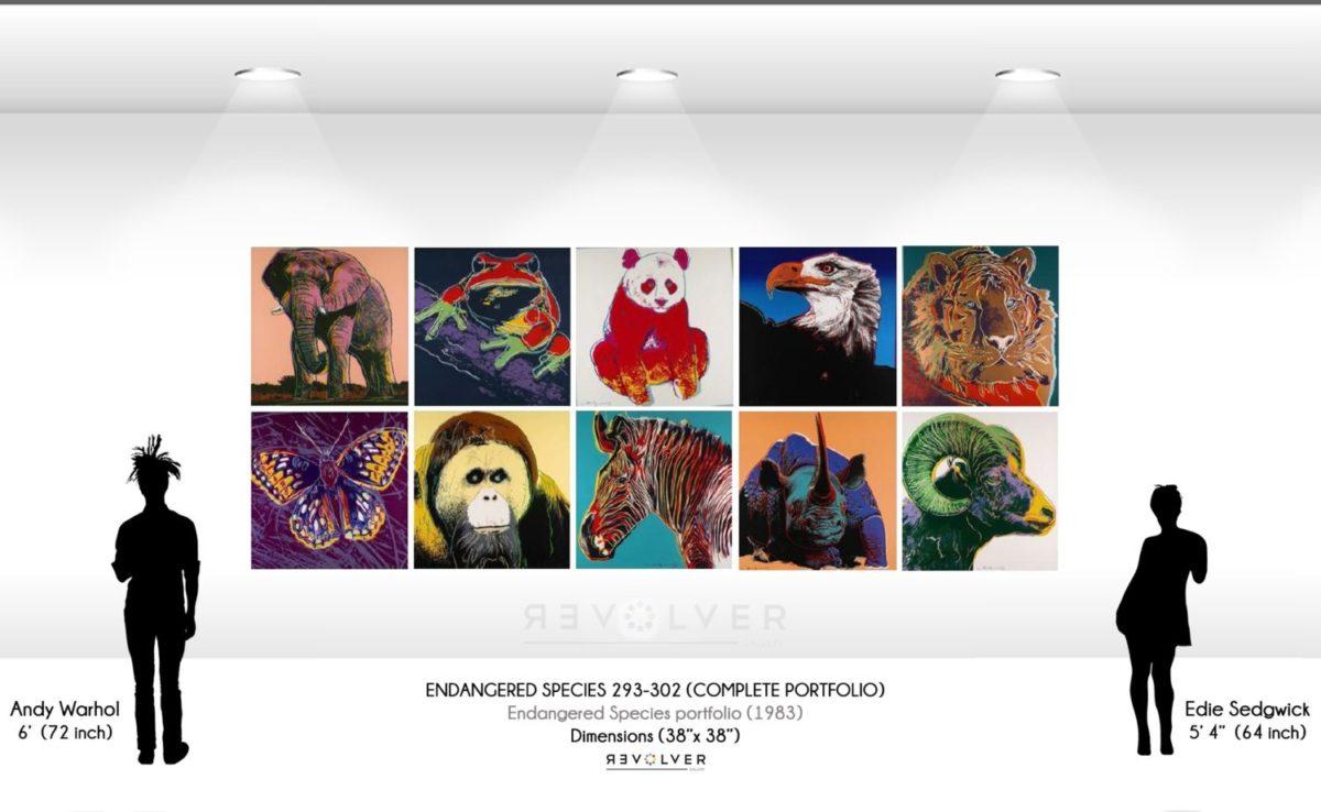 Andy Warhol Endangered species complete portfolio