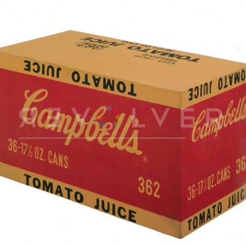 Campbell's Tomato Juice Box by Andy Warhol