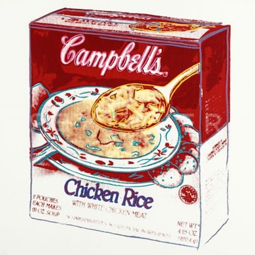 Campbell's Soup Box: Chicken Rice by Andy Warhol