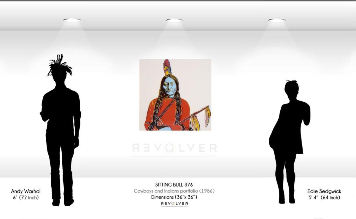 Warhol Sitting Bull 376 Wall Display