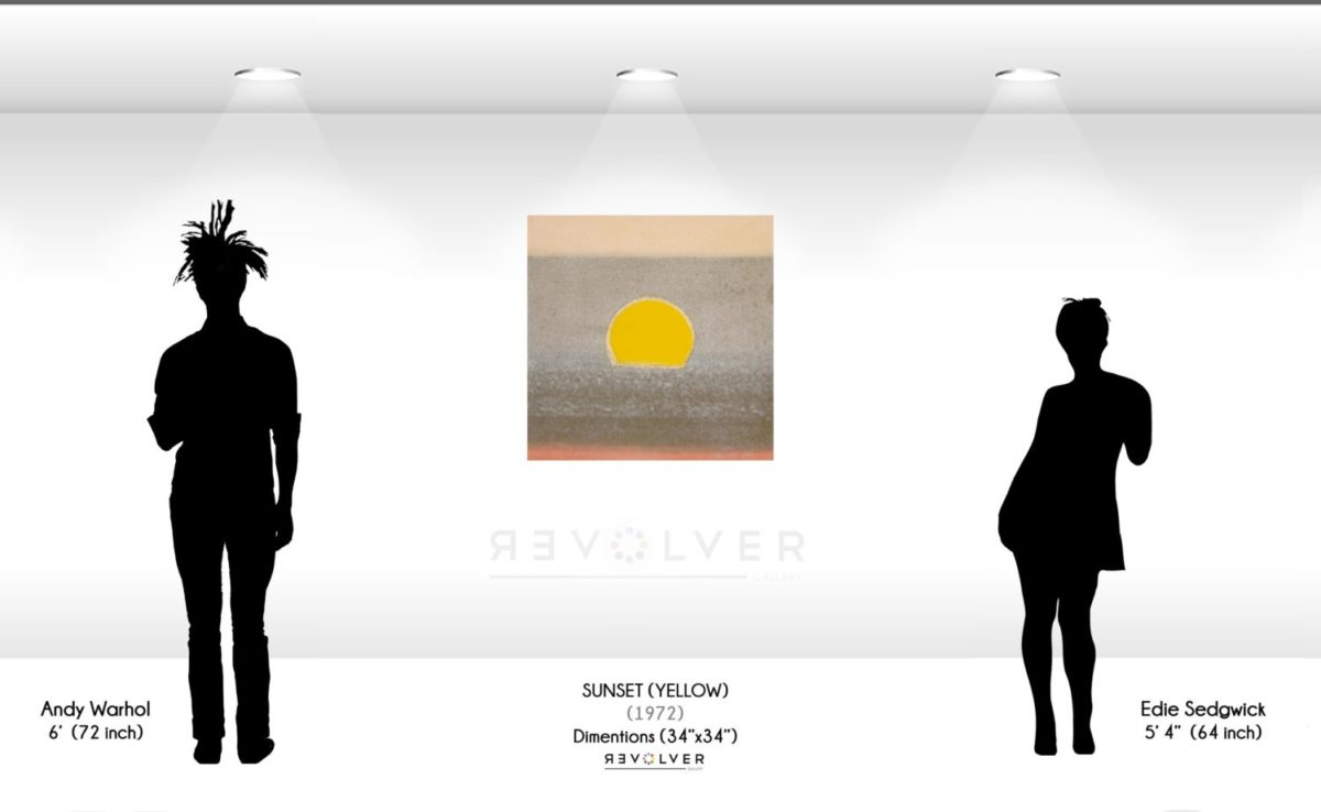 Warhol Sunset Yellow Wall Display