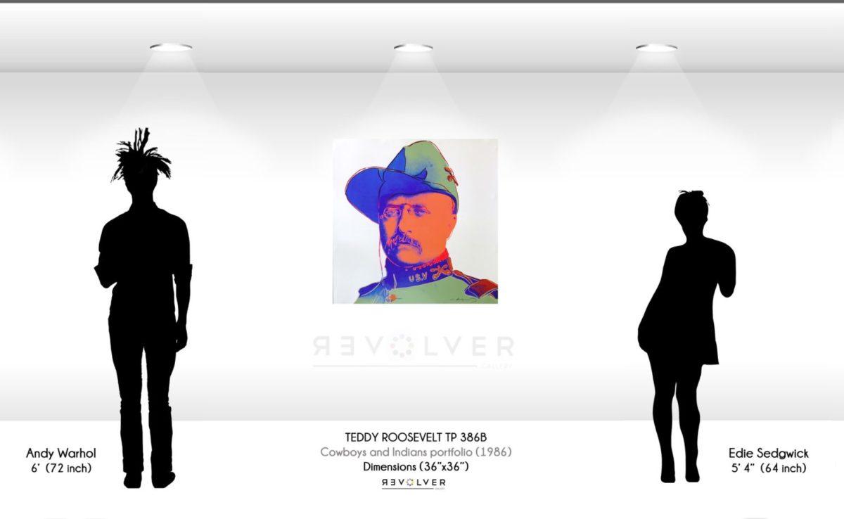 Warhol Teddy Roosevelt 386B TP Wall Display