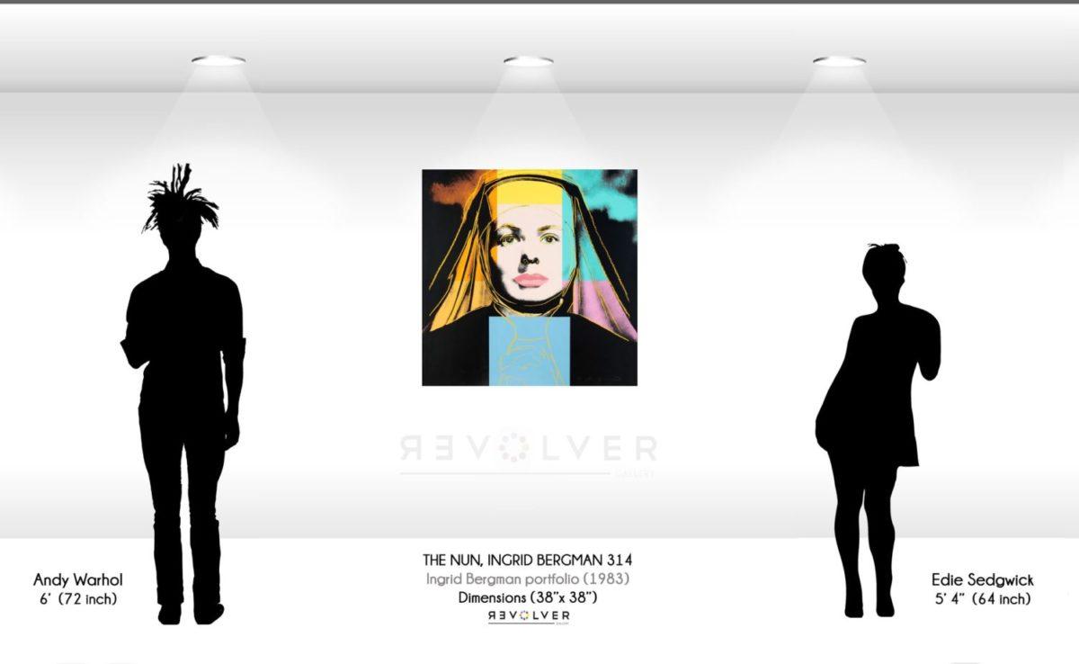 Warhol The Nun, Ingrid Bergman 314 Wall Display