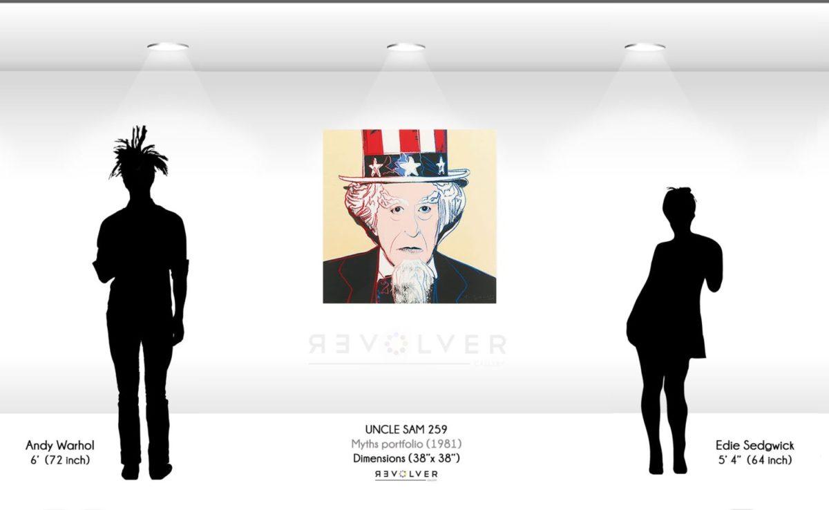 Warhol Uncle Sam 259 Wall Display