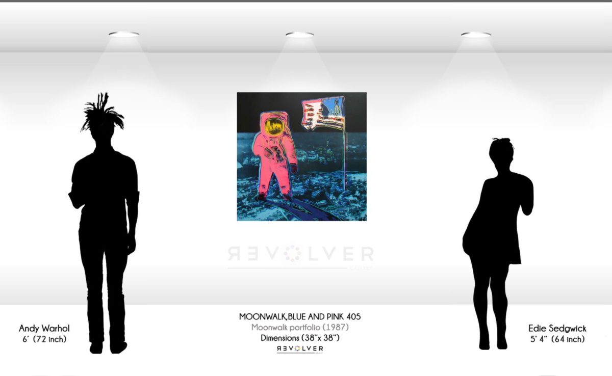 Andy Warhol Moonwalk blue and pink 405