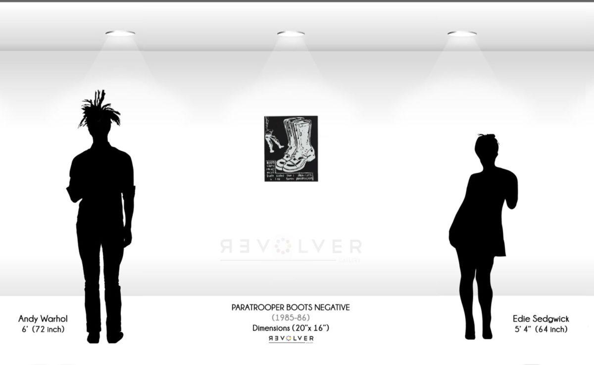 Warhol Paratrooper Boots Negative Wall Display
