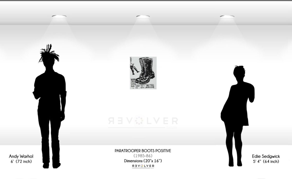 Warhol Paratrooper Boots Positive Wall Display
