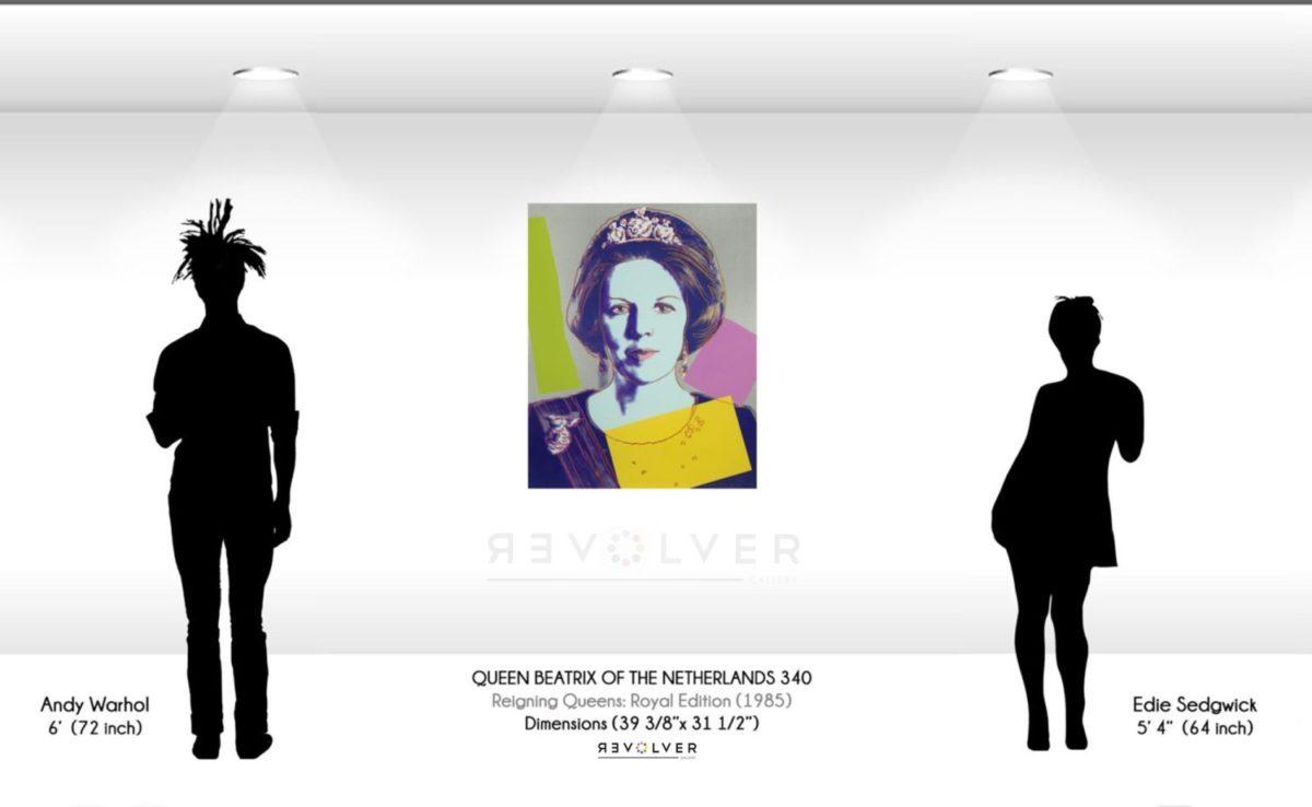 Warhol Queen Beatrix 340 Wall Display