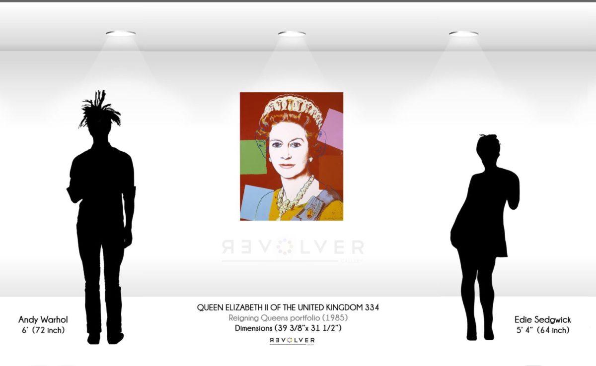 Warohl Queen Elizabeth 334 Wall Display