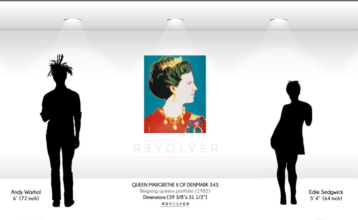 Warhol Queen Margrethe 343 Wall Display
