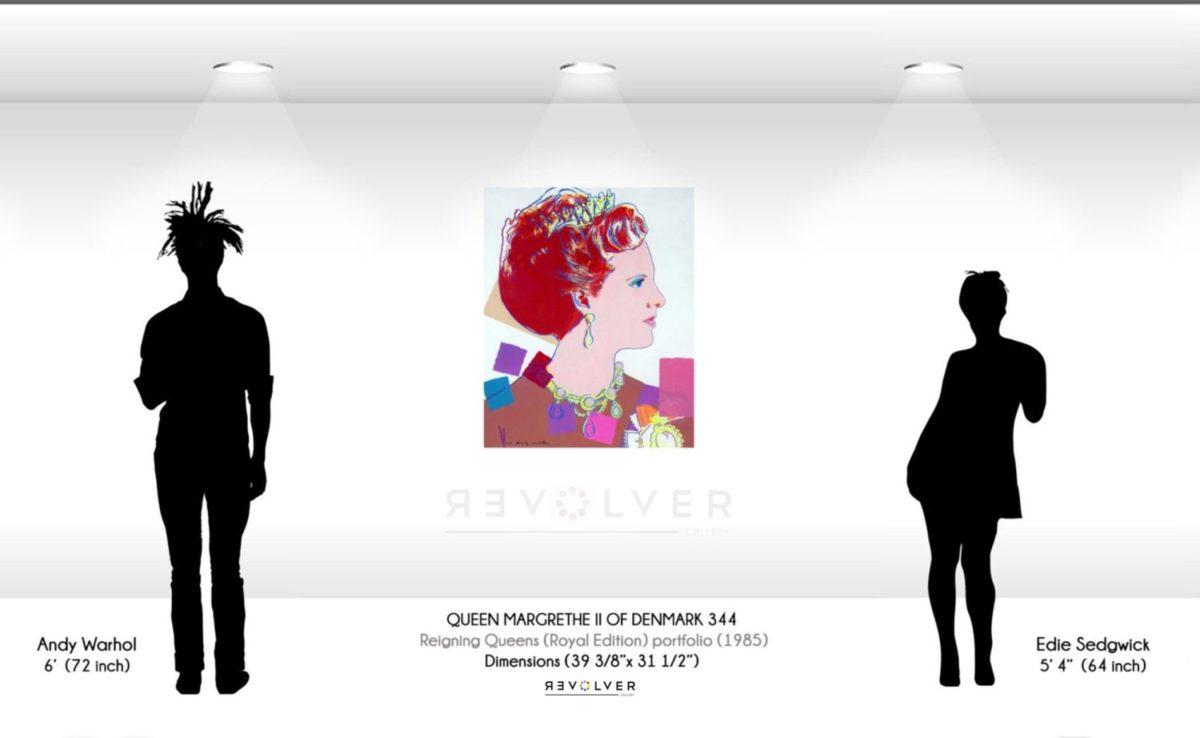 Warhol Queen Margrethe 342 Wall Display