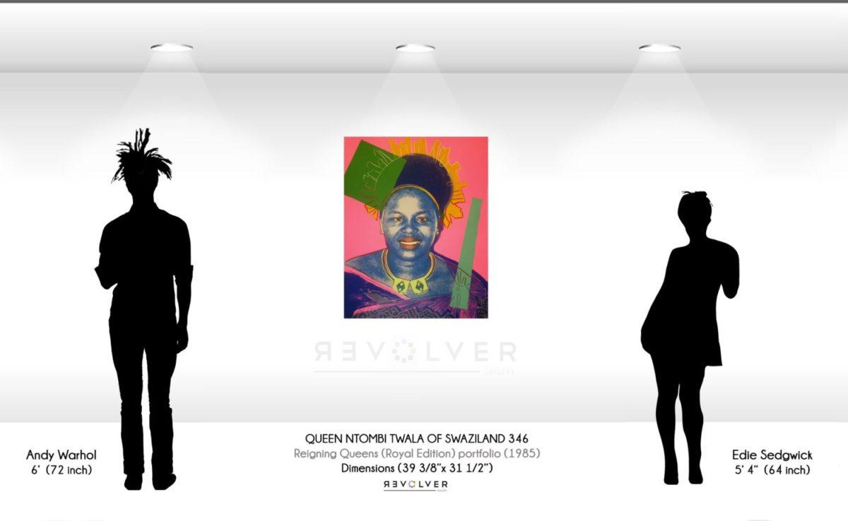 Warhol queen ntombi 346 wall display