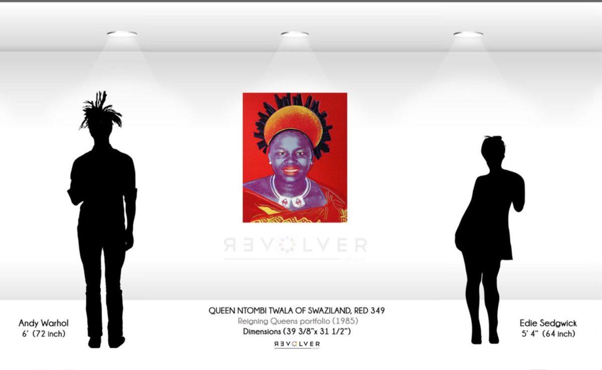 Warhol Queen Ntombi 349 Wall Display