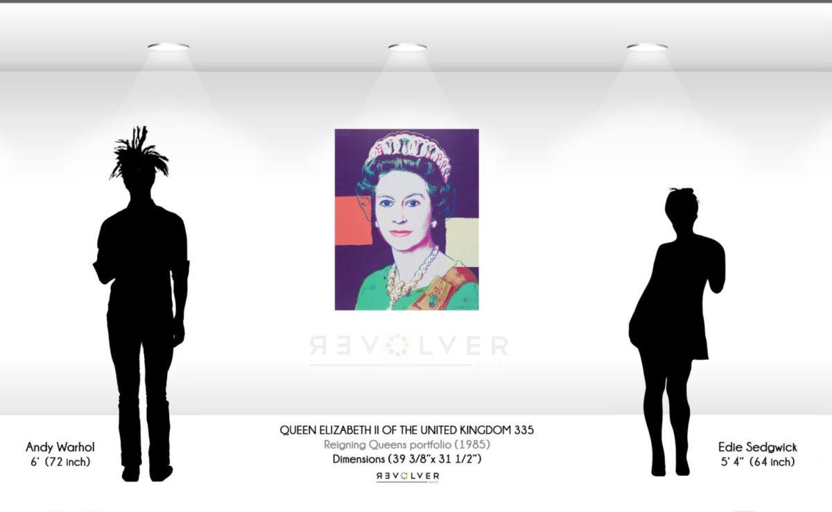 Andy Warhol Queen Elizabeth 335 Wall Display