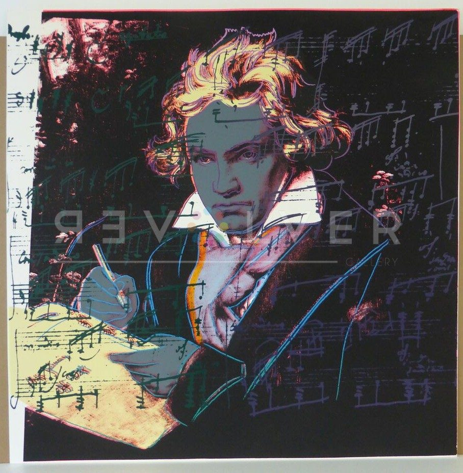 Beethoven 393 screenprint, out of frame, with Revolver gallery watermark.