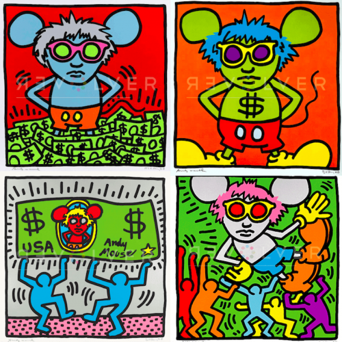 Andy Mouse Full Suite by Keith Haring