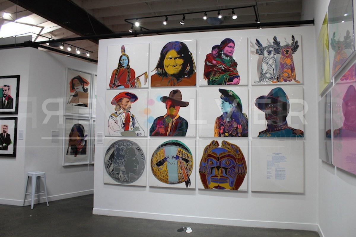 Andy Warhol - Cowboys and Indians (Full Suite) hanging jpg