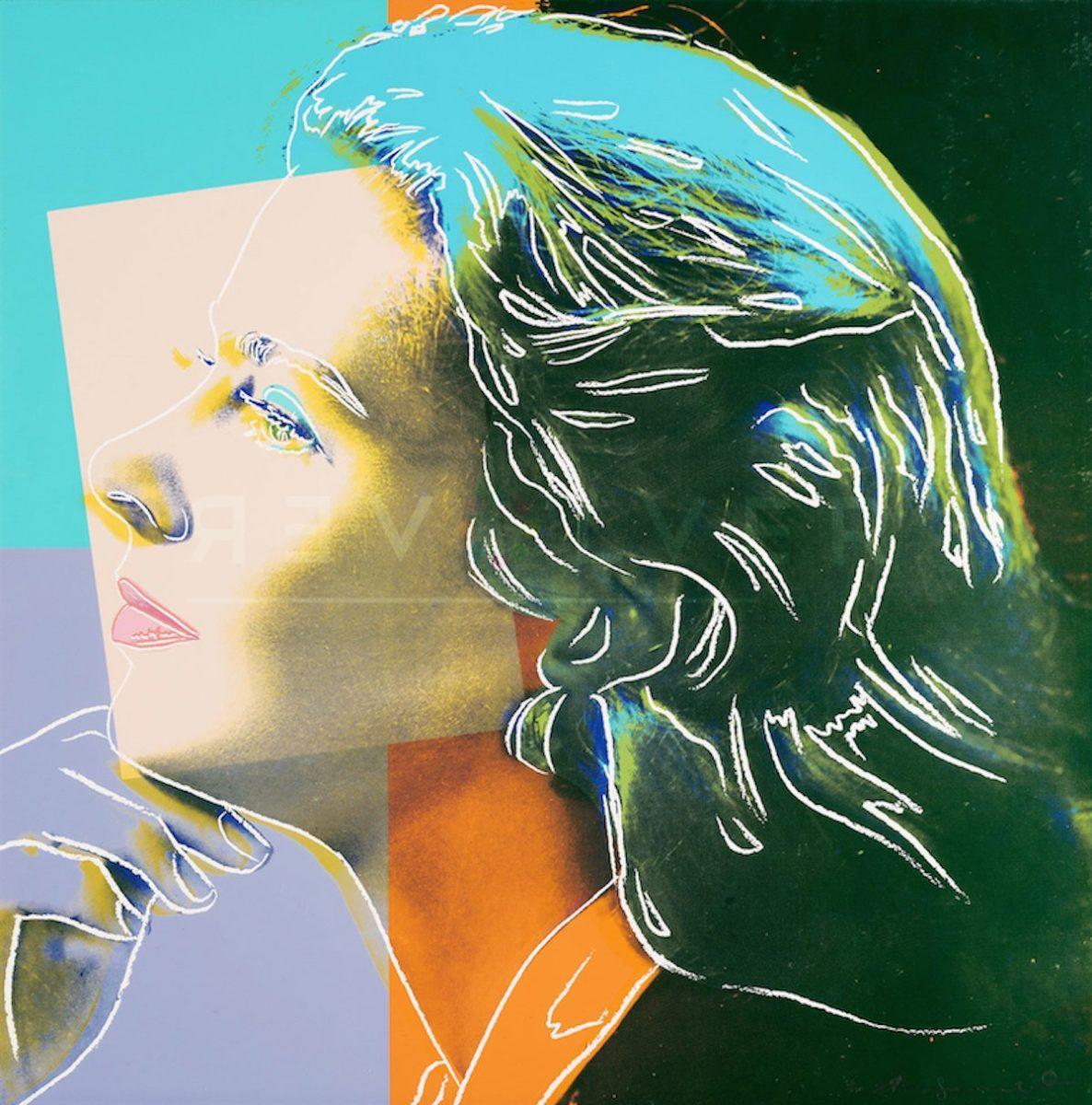 Andy Warhol Ingrid Bergman Herself. Basic Stock Photo.