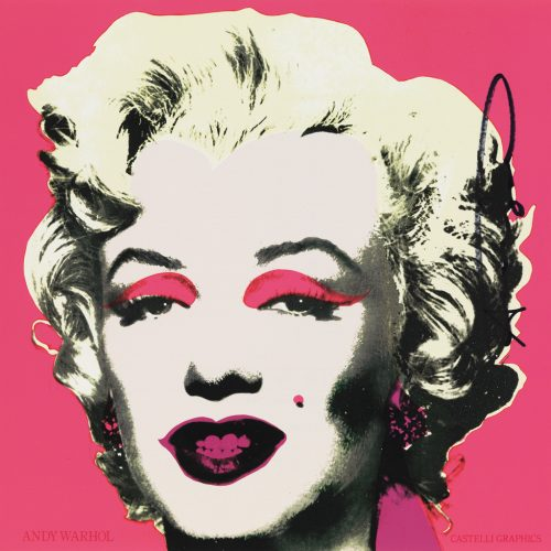"""Picture of Signature, Marilyn Invitation 12"""" x 12"""" M33980-1 002, 1981, by Andy Warhol."""