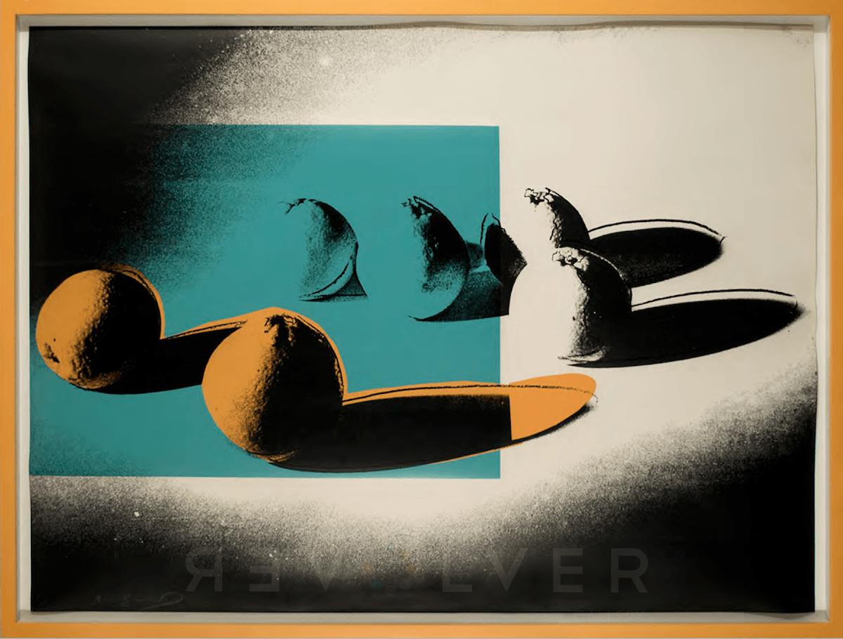 Andy Warhol - Space Fruit: Oranges F.S. II 197 framed jpg